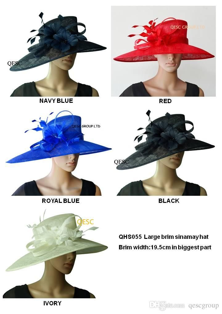 Wide Brim Formal Sinamay Hat Ladies Hat For Kentucky Derby,Melbourne Cup,Wedding,Church,5 Colours,By Ems Tilley Hats Mens Hats From Qescgroup, $163.82| Dhgate.Com