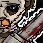 Teddy bear  leather face, texas chainsaw murderer
