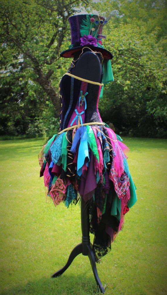 hand made female mad hatter costume by