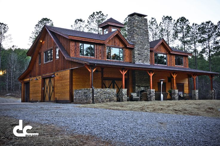 Custom Timber Frame Barn Home In Newnan, Georgia - DC Building