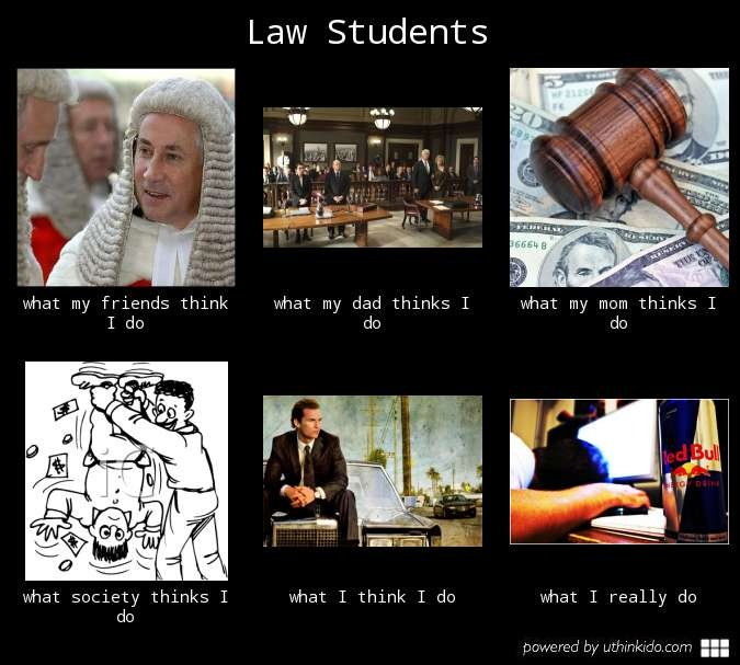 Law Students - What I Think I Do.