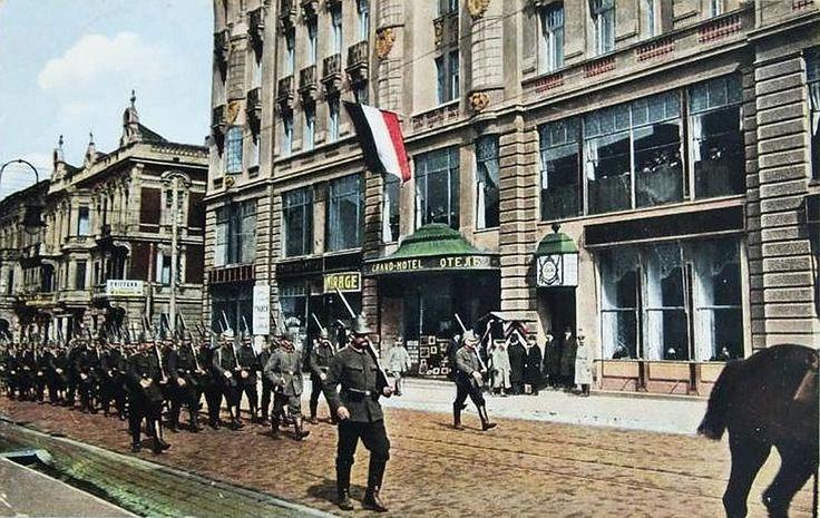 baedeker łódzki: PIERWSZA WOJNA ŚWIATOWA – lato 1915 roku, czyli Łódź sto lat temu German troops enter Łódź in 1915