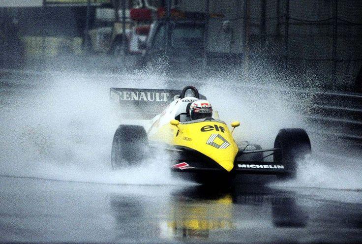Alain Marie Pascal Prost (FRA) (Equipe Renault Elf), Renault RE40 - Renault-Gordini EF1 1.5 V6   1983 Monaco Grand Prix, Circuit de Monaco  © Renault Sport F1