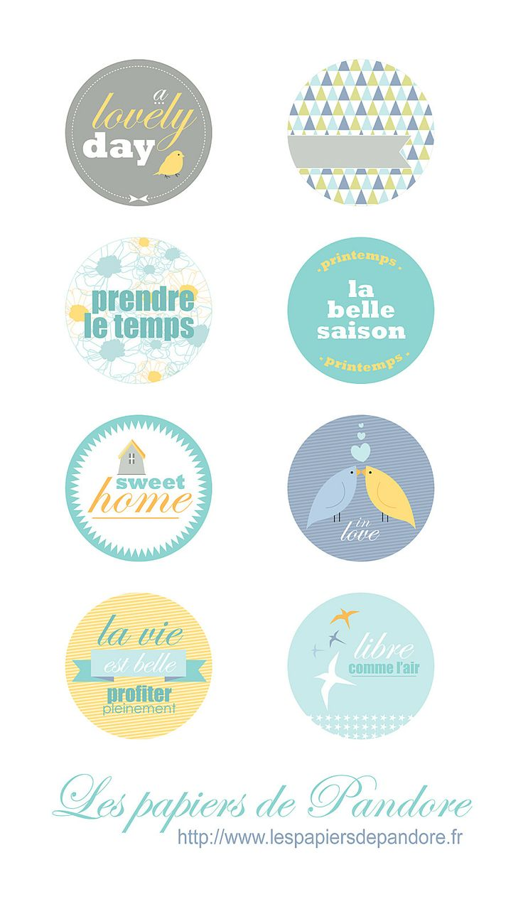 Free Printable Little Bird Labels {etiquettes}