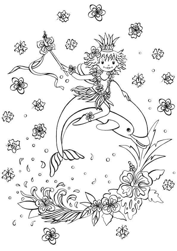 Meerjungfrau Delphin Ausmalbilder Lillifee Ausmalbild Ausmalbilder Ausmalen