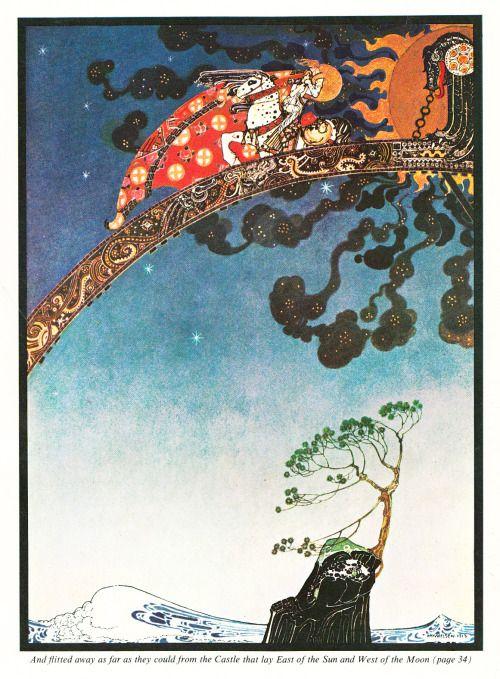 """adelphe: """"К востоку от Солнца и Запада Луны, иллюстрации Кей Нильсен 1914 года я сканировал иллюстрации из этой книги, что близнец купил для меня, они прекрасны.  """""""