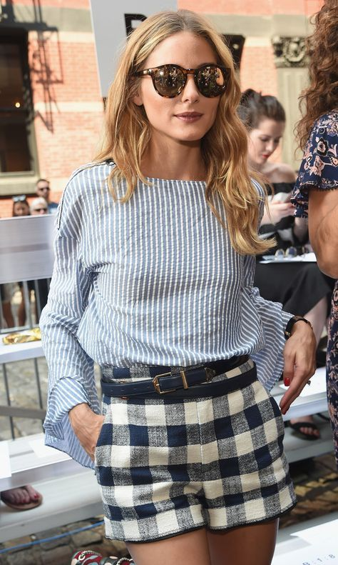 Olivia Palermo is up on the gingham trend.