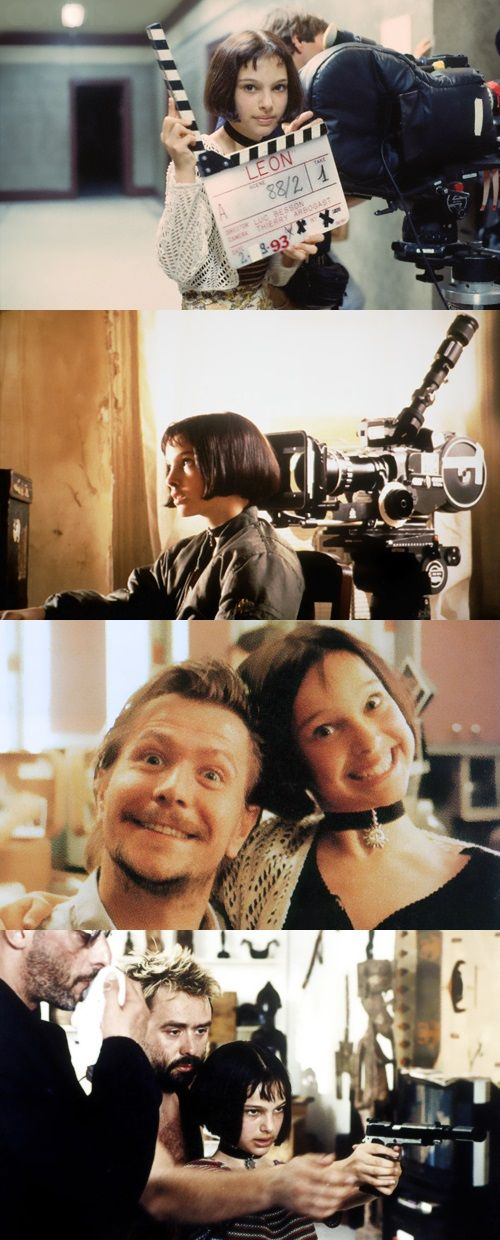 Behind the scenes of Léon: The Professional nice to see outtakes such a dark film