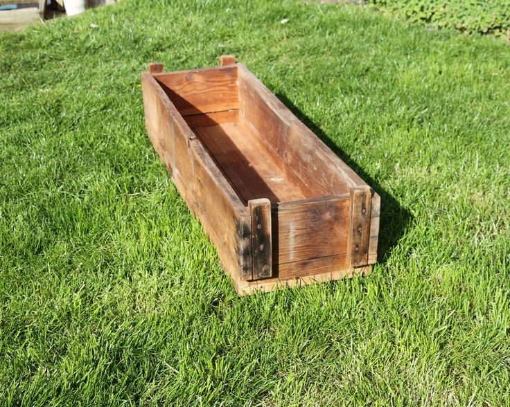Wooden Planter Trough UNUSUAL VINTAGE LARGE Wooden Farmhouse Rustic Garden in Garden & Patio, Plant Care, Soil & Accessories, Baskets, Pots & Window Boxes | eBay