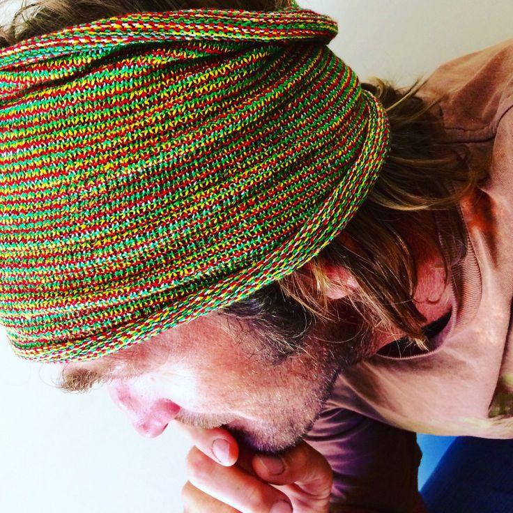 EXTRA Wide 35cm Headband, Yellow Green Red White Headband, Dread Wrap, Yoga Headband, Knit Headband, Rasta Headwrap, Hippie Headband, Locks by myVardo on Etsy