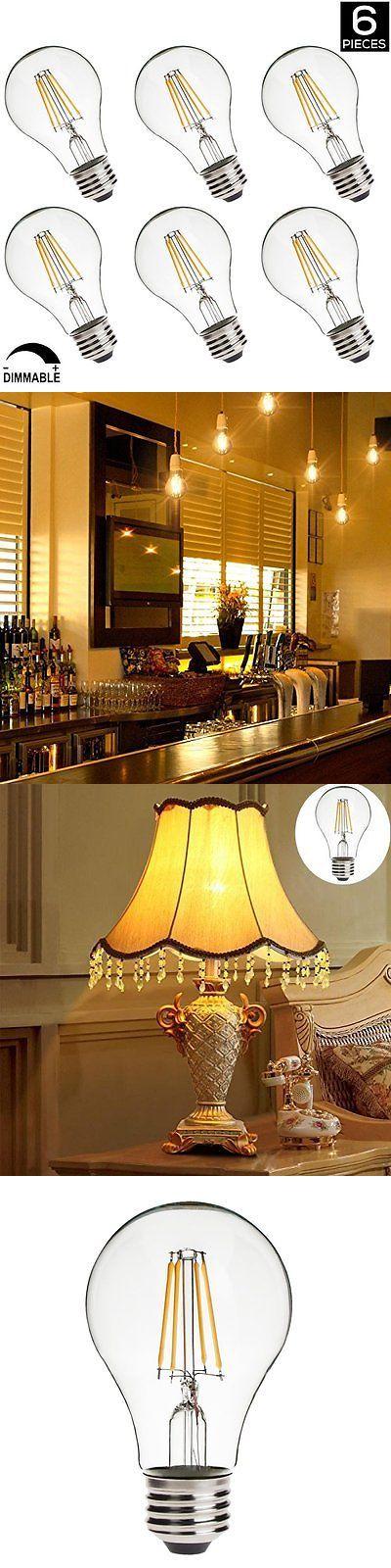 Light Bulbs 20706 Led A19 Dimmable Edison Bulbs2700K Warm White