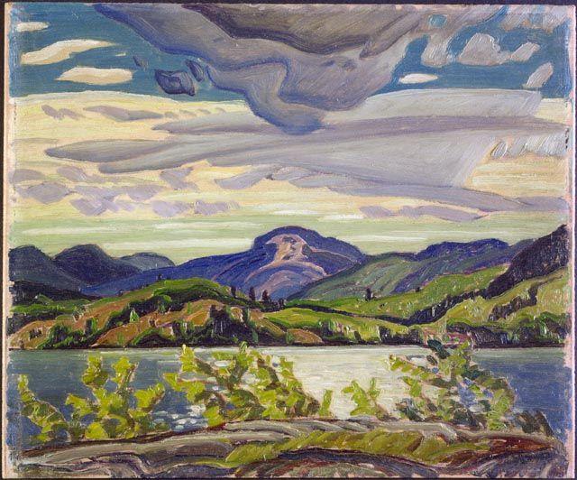 """La Cloche Hills,"" Frank Carmichael, 1939, oil on wood, 10 x 12"", National Gallery of Canada."