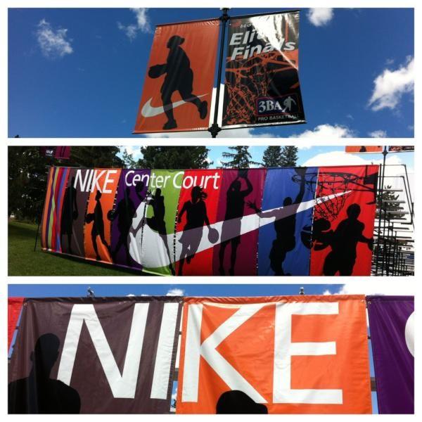 Setting up at @Nike Center CourtNike Center, Center Court