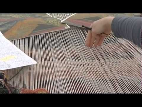 Fantastic video showing traditional tapestry weaving