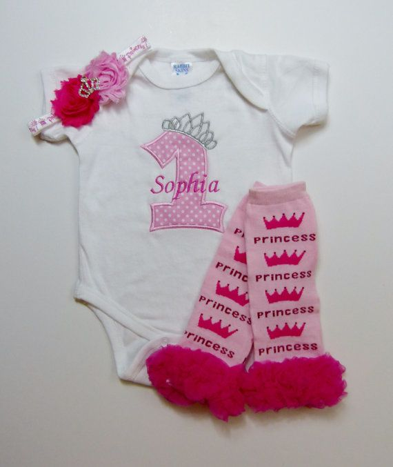 1st Birthday Girl Princess Pink Personalized First by mamabijou