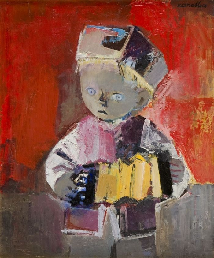 Rajmund Kanelba (Kanelbaum) - Chłopiec z harmonią