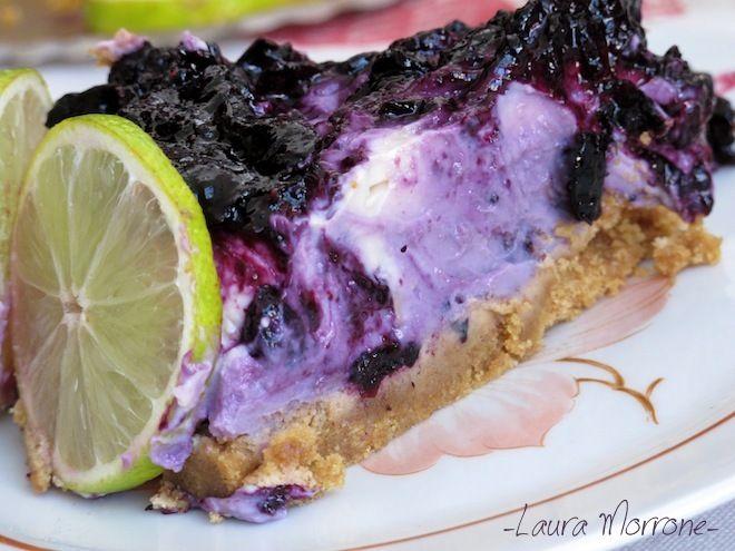 cheesecake mirtilli lime - blueberries