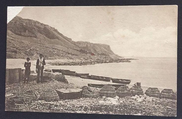 Chesil Beach, Portland, Unused Early Postcard