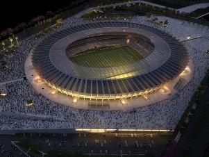 MINAS - Entregue em cerimônia que contou com Dilma Rousseff,MINEIRÃO agora será inaugurado com bola rolando em fev-2013.Projeto básico: Gustavo Penna Arqu,com a empresa alemã GMP.Projeto executivo: BCMF Arquitetos. A modernização do MINEIRÃO construção de cobertura,vestiários,arquibancadas,estacionamentos e esplanada.O estádio tem 64,5 mil lugares e,em 21 de dezembro de 2012,se tornou o segundo palco pronto para a COPA 2013 depois do CASTELÃO. Custo:R$ 695mi. Concessão por 27anos.