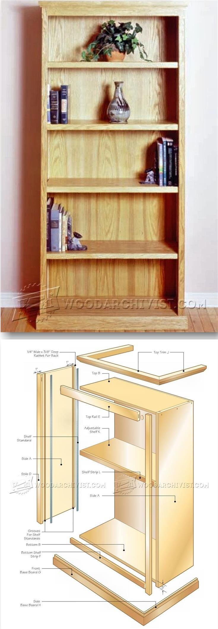 Office Bookcase Plans - Furniture Plans and Projects | WoodArchivist.com