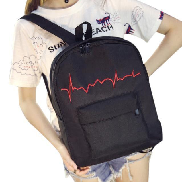 New Simple Fashion Women Printing Cute Canvas Backpack Ladies Casual Protable School Bag Female Travel Rucksack La Mochila Jan11