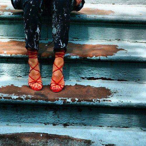 Love the shoes, love the pants.  Plus the photograph is pretty cool.