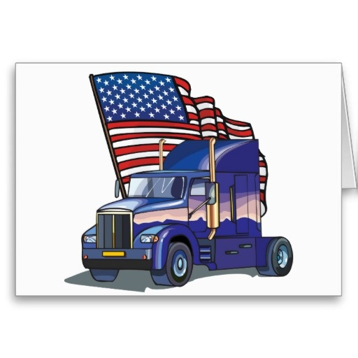 Trucks, Driver Card And Greeting Card