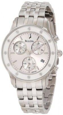 Relógio Bulova Women's 96R165 Chronograph Bracelet Watch #relogio #bulova