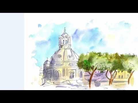 Урок №4. Римские каникулы. Быстрые зарисовки городской среды.