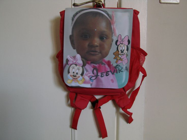 Add a photo to a backpack