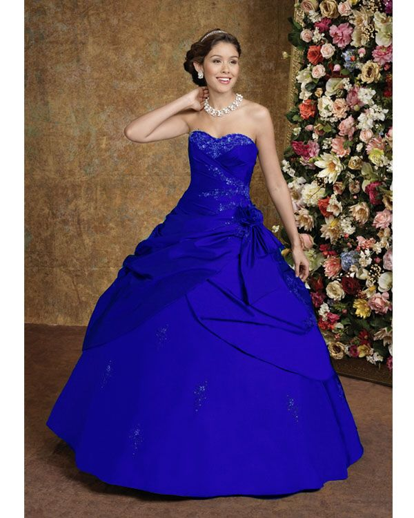 Image detail for blue wedding dresses royal blue wedding for Blue dresses to wear to a wedding