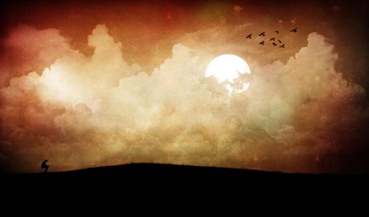 """""""Lonely"""" by Vörös Máté: Picture, Photos, Nature, Beautiful, Silvery Moon, Vörös Máté, Light, Lonely"""
