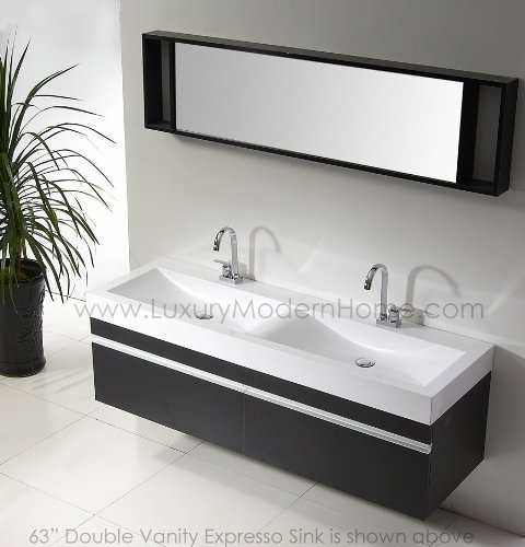 Vanity Vanity Sink Double Sinks Hung Bathroom Bathroom Main Bathroom