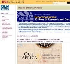 Página web del Institute of Human Origins,  de la Universidad Estatal de Arizona.