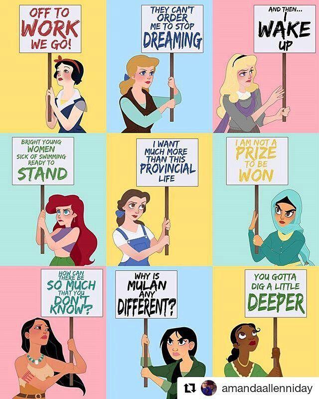 Disney princesses staying woke