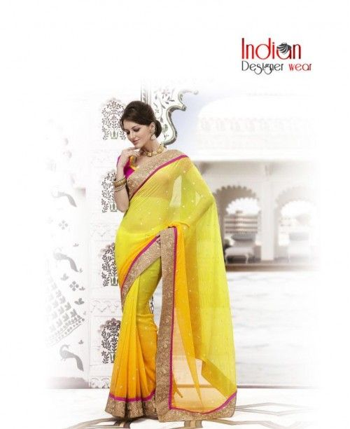 Honeybunch Yellow Saree