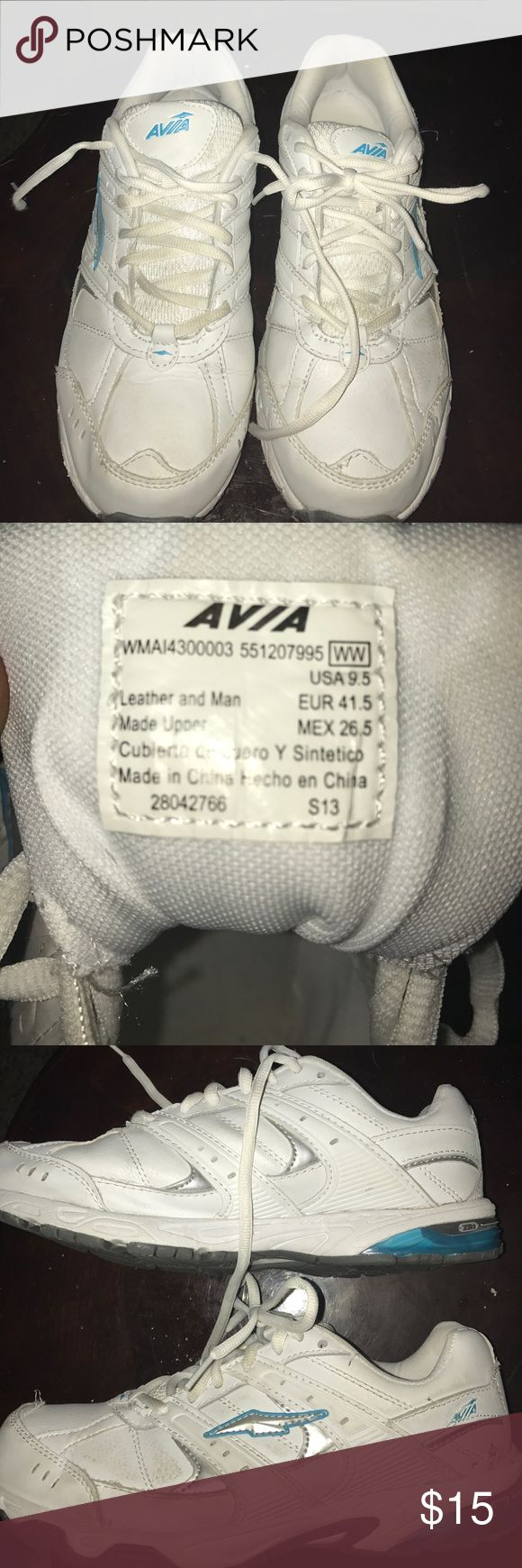 Avis Tennis shoes ladies Great condition White tennis shoes. Leather and man made materials.    (7) Avia Shoes Athletic Shoes