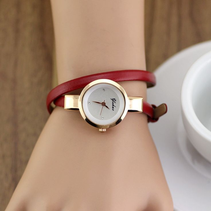 2014 Brand New Slim lady's watch lovely long style 2 circles woman delicate women Wristwatches $13.00