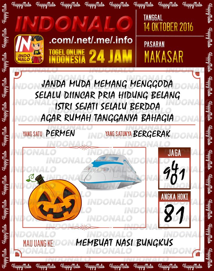 Agen SDSB Togel Wap Online Live Draw 4D Indonalo Makassar 7 Oktober 2016