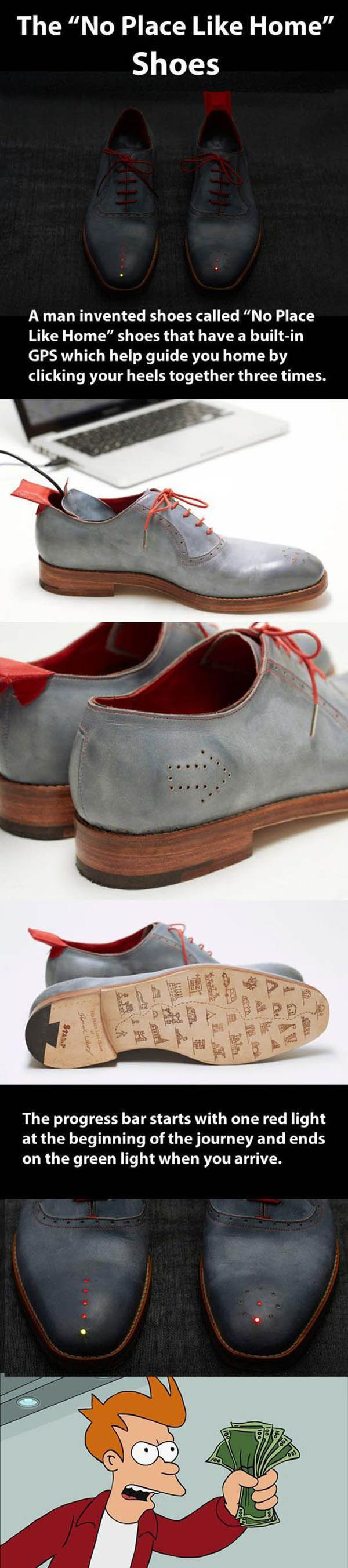 shoes with GPS invention