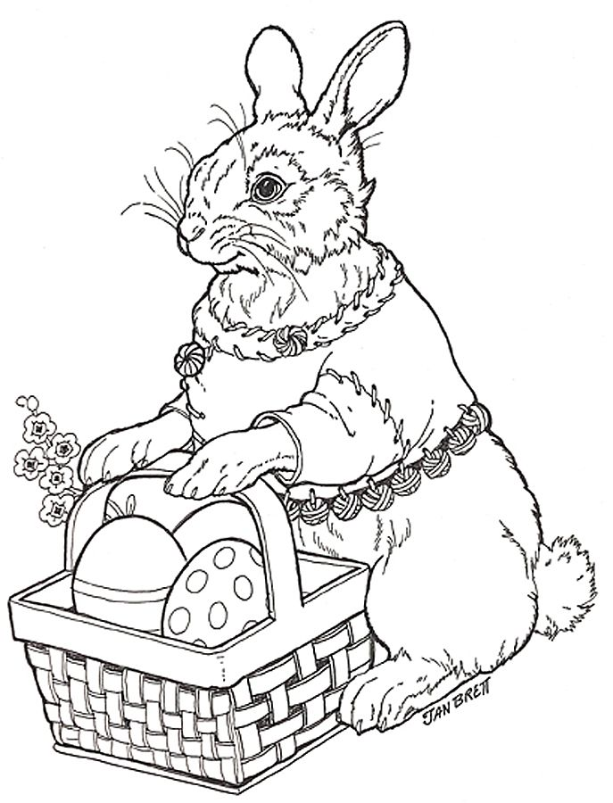 Bunny Coloring Page Easter PagesFree