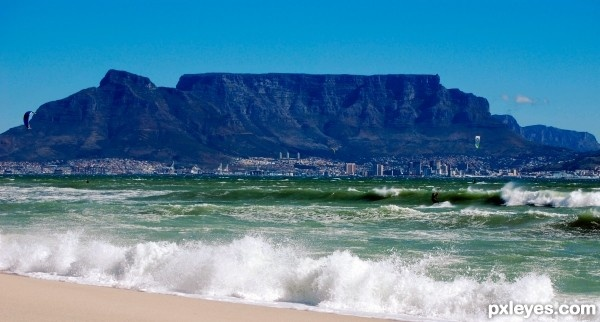 Table Moutain in Cape Town South Africa