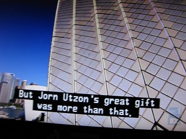 TRIBUTE TO UTZON. SYD AU, via Flickr.
