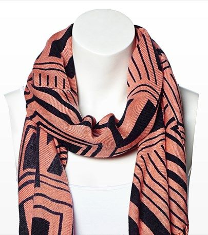 #DYNHOLIDAY This geo print scarf is the perfect way to add a bit of the tribal trend to your wardrobe! Pair it with one of our v-neck tees.