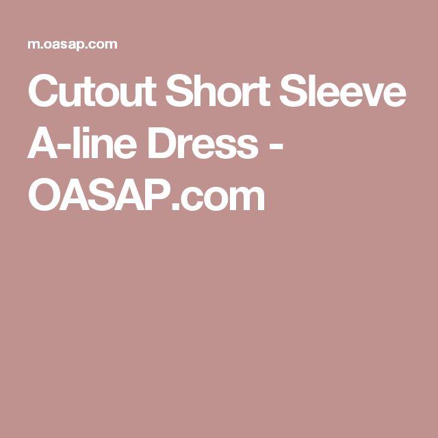 Cutout Short Sleeve A-line Dress - OASAP.com