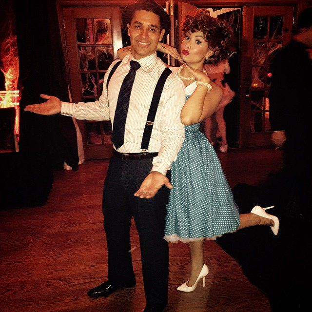 Pin for Later: Look Back at All of Last Year's Memorable Celebrity Halloween Costumes! Demi Lovato and Wilmer Valderrama as Lucy and Ricky Ricardo