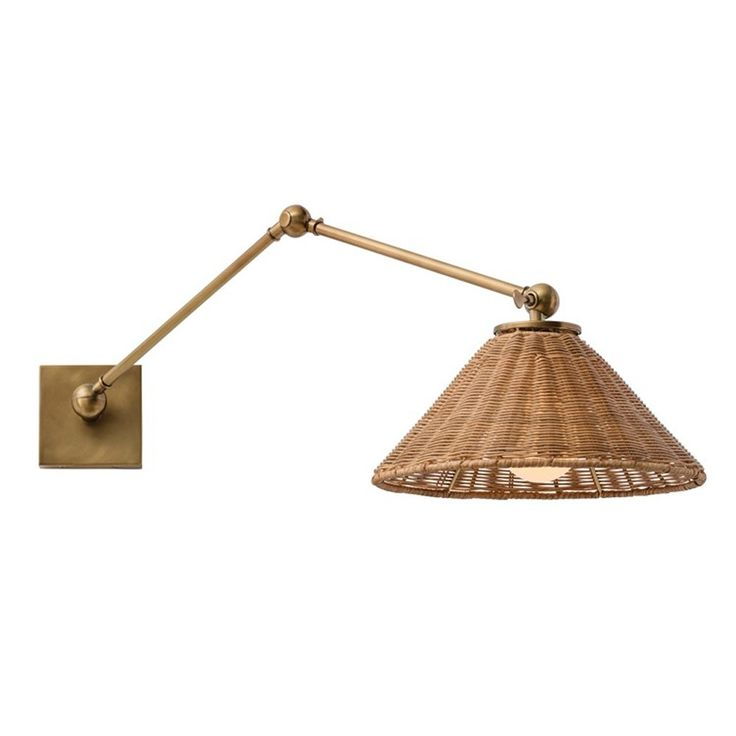Wall Sconce Reading Lamp : Arteriors Padma Sconce Reading lamps, Natural and Wall lights