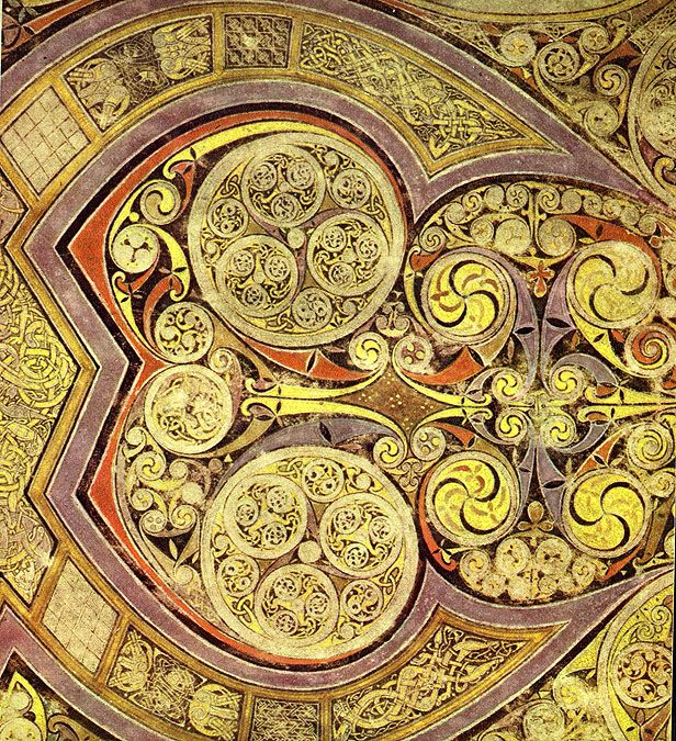 Book of Kells detail #bookofkells #celtic http://employees.oneonta.edu/farberas/arth/Images/109images/Insular/kells/chi_rho_bowl.jpg at Oneonta (State University of New York)