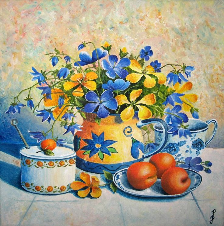 Akryl na plátně (30x30) -autorská kopie -věnováno mé drahé babičce