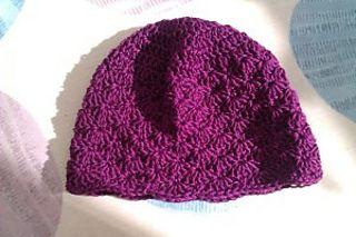 Any Size Shell Stitch Hat - Free crochet pattern by Eleanor Thomson. Newborn-adult sized. Using any weight yarn.